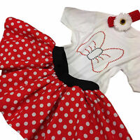Minnie Mouse Sparkle Toddler Girls Baby Tutu Skirt Set 80s Fancy Dress Party Kid