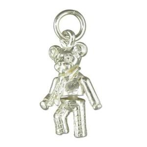 Sterling Silver Moveable Cartoon Bear Charm