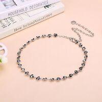 Women's Fashion Heart Crystal Waist Chains Jewelry Alloy Chain Waistband Belt