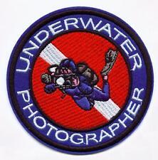 Aufnäher Unterwasserfotographie Tauchen Patch Taucher Tauchsport Diver Diving