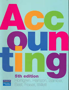 Accounting by Best Horngren (Paperback, 2006)