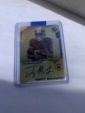 Terry McLaurin RC Redskins 2019 Panini Elements Gold Rookie Auto SP