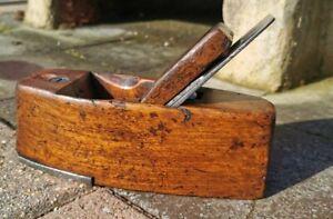 Vintage Wooden Coffin Shaped Plane. Ward iron Plus metal toe