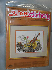 """Sunset Stitchery by Sunset Designs """"Afternoon Recital"""" Embroidery Kit New Sealed"""