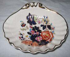 1930 Masons Mandarin Shell Dish Candy Nuts Oriental Floral Cobalt Gold England