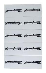 """25 Pack Oversized 1/0 AWG 0 Gauge 3/4"""" Diameter Heat Shrinks WHITE"""