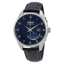 Seiko Kinetic Blue Dial Blue Leather Men's Watch SRN061P1