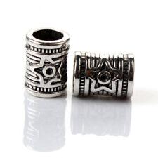 2PCS Silver Spacer Charm Beads fit European Silver Bracelet