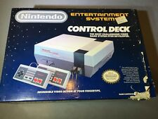 Nintendo NES Entertainment System Deluxe Gray Console In Box Working