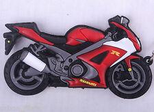 Suzuki GSXR 1000 600 Red Keyring Keyfob Chain Ring Motorbike Engine Exhaust 3D