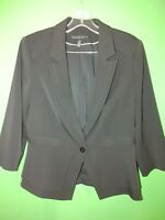 3222) WHITE HOUSE BLACK MARKET 10 black blazer jacket fitted 3/4 sleeve 10