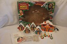 Vintage Mr. Christmas MICKEY'S CLOCK SHOP w/Box +Manual Animated Musical Singing