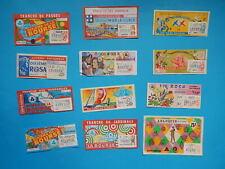 LOT 12 BILLETs tickets LOTERIE NATIONALE VALENTIN CHANDELEUR  ANNEES 70/80 L3