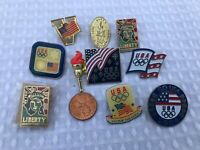 Lot of 7 Olympic Pins  USA