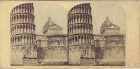 Pisa Italia Foto Stereo Vintage Albumina c1860