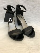 576049d3d6b G By Guess New Womens Shantel Black Peep Toe Block Glitter Heels Shoes Size  6.5M