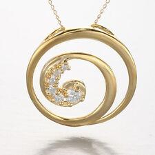 CZ Golden Spiral Pendant
