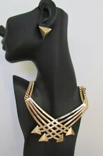 Sexy Women Fashion Necklace Jewelry Set Strands Metal Chains Gold Silver Arrows