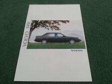 1991 VOLVO RANGE UK 16pg COLOUR BROCHURE 340 440 460 480 240 740 940 960