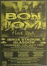 BON JOVI Poster  Scottish Promo Gig Flyer Rare - post FREE* 1996