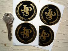 JPS Negro y Oro Pegatinas 50mm conjunto de 4 John Player Special Lotus Auto De Carrera