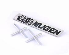 Black Metal Chrome Hood Front Grille Grill Badge Mugen Power Emblem For AC HOND
