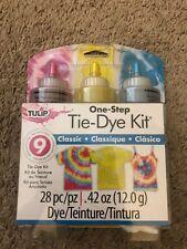 Tulip One Step Tie Dye Kit 28 pc Pieces Moody Yellow Turquoise Fuchsia