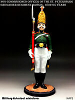 NCO officer Russia 1802-05 Tin toy soldier 54mm figurine sculpture HAND PAINTED