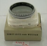 Orig Leica Leitz Polfilter Filter Lens Polarizing Polarizer 39mm 39Ø 39 2997/7