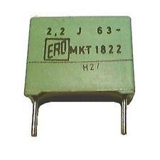 Lot of 2 Metalized Polyester Film 2.2uF 63V ERO MKT1822