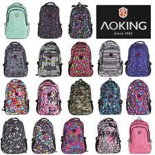 Rucksack AOKING Sport Reise City Schul Tasche Backpack Outdoor Freizeit Bunt NEU