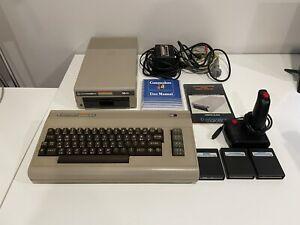Commodore 64 Breadbin With Original 1541, Manuals, Cartridges, Working!