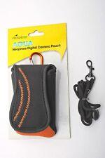 Promaster Aqua Pouch Camera Neoprene belt Black/Orange carabiner Case++MINT/NEW