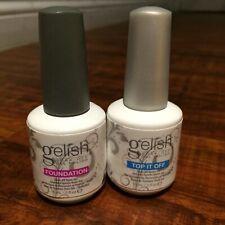 Gelish Harmony Top and Base Coat Gel Polish UV nail polish 2 x15 ml