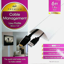 Cable Management Covers for Hiding TV Wires AVF NUA180W - PREMIUM