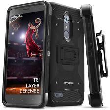 ZTE MAX XL Case, Evocel Trio Pro Premium Hybrid Tri-Layer Protector w/ Belt Clip