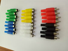 60 pcs 6 color RCA Plug Solder Type Audio Cable adapter