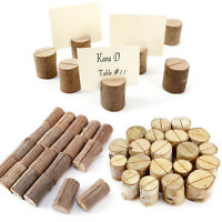 Wooden Wedding Party Card Holder Place Picture Photo Table Name Clip Birch Cedar