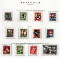 1925-27 SVIZZERA PRO JUVENTUTE 3 SERIE COMPLETA 12 VALORI UNIF. N.218-29  USATI