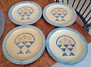 "Pfaltzgraff America Four Basket Dinner Plates Country 10 3/8"" M.A.F.A."