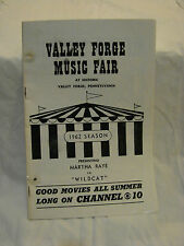 2 PROGRAM VALLEY FORGE MUSIC FAIR MARTH RAYE WILDCAT 1962 SEASON