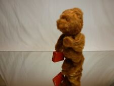 VINTAGE TIN TOY CZECH HAIRY WIND-UP BEAR - BROWN H23.0cm - EXTREMELY RARE