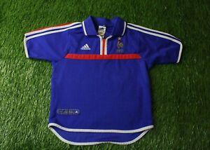 FRANCE NATIONAL TEAM 2000/2002 FOOTBALL SHIRT JERSEY HOME ADIDAS ORIGINAL YOUNG