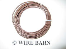 MTW 12 AWG GAUGE BROWN STRANDED COPPER WIRE 25 FEET MACHINE TOOL WIRE- USA MADE