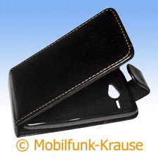 Flip Case Etui Handytasche Tasche Hülle f. HTC ChaCha (Schwarz)