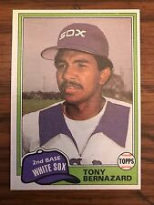 1981 Topps Tony Bernazard Chicago White Sox 735
