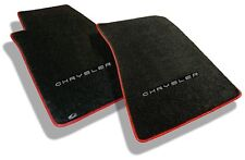 NEW! Black Floor Mats 2004-2008 Chrysler Crossfire Embroidered Script logo Red B