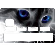 Stickers Autocollant Skin Carte bancaire CB Yeux de chat 1103 1103