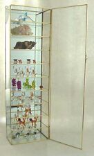 NEW Glass and Brass Curio Cabinet for Collectibles for small bottles, Figurines