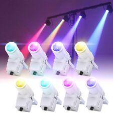 8PCS 30W Beam Spotlight RGBW LED Pinspot Lights Dance Party DJ Spin Stage Light